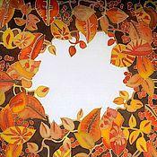 """Аксессуары ручной работы. Ярмарка Мастеров - ручная работа Шелковый платок """"Осень"""". Handmade."""
