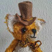 """Куклы и игрушки ручной работы. Ярмарка Мастеров - ручная работа Лисенок Тедди """"Джентельмен"""". Handmade."""