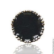 Украшения handmade. Livemaster - original item Ring round Crown color black mother of pearl. Handmade.