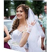 Свадебный салон ручной работы. Ярмарка Мастеров - ручная работа Митенки для невесты Жемчужные. Handmade.