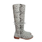 Обувь ручной работы handmade. Livemaster - original item Boots made from Python ELIA. Handmade.
