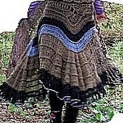 Одежда ручной работы. Ярмарка Мастеров - ручная работа юбка вязаная с жилетом Оливки. Handmade.