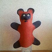 Куклы и игрушки ручной работы. Ярмарка Мастеров - ручная работа Игрушка на руку Винни Пух из войлока. Handmade.