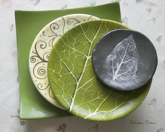 Тарелки ручной работы. Ярмарка Мастеров - ручная работа. Купить Тарелки. керамика,фаянс,фарфор. Handmade. Зеленый, Тарелка декоративная