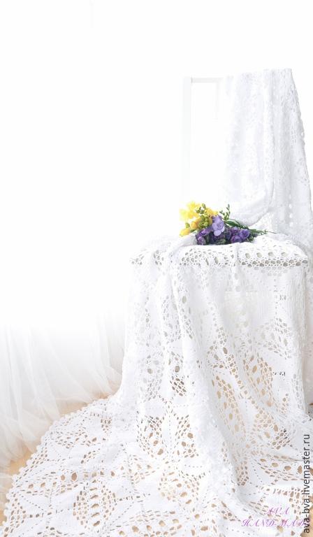 Текстиль, ковры ручной работы. Ярмарка Мастеров - ручная работа. Купить Вязаный плед. Handmade. Плед вязаный, покрывало в спальню