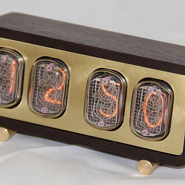 Для дома и интерьера ручной работы. Ярмарка Мастеров - ручная работа Часы: Часы на газоразрядных индикаторах ИН-12. Handmade.