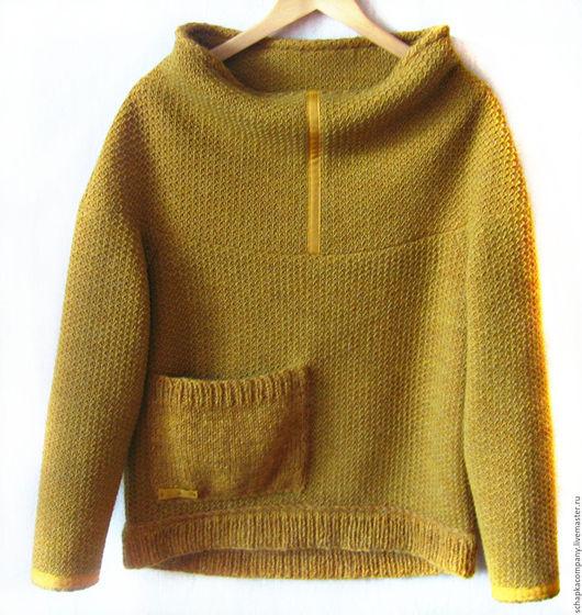 Кофты и свитера ручной работы. Ярмарка Мастеров - ручная работа. Купить Пуловер FreeMix. Handmade. Желтый, горчичный, горчица