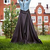 Одежда ручной работы. Ярмарка Мастеров - ручная работа V_003 Юбка-трапеция с отделкой из кружева. Handmade.