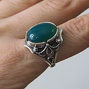 Украшения handmade. Livemaster - original item Ring Carolina natural onyx, silver 925. Handmade.