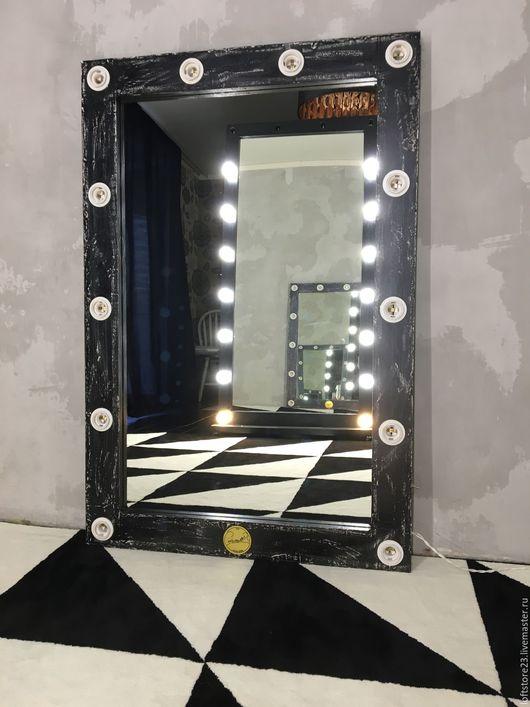 Зеркала ручной работы. Ярмарка Мастеров - ручная работа. Купить Зеркало ручной работы ELDER.. Handmade. Чёрно-белый, сосна