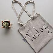 Сумка-шоппер ручной работы. Ярмарка Мастеров - ручная работа Сумка «Today». Handmade.