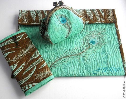 Женские сумки ручной работы. Ярмарка Мастеров - ручная работа. Купить набор для дамской сумочки. Handmade. Мятный, клатч, лето