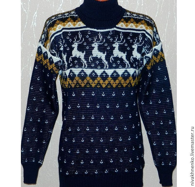 Sweater with deers knitted, Sweaters, Moscow,  Фото №1