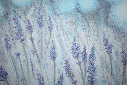 """Картины цветов ручной работы. Ярмарка Мастеров - ручная работа. Купить Картина пастелью """"Лавандовое поле"""". Handmade. Картина"""