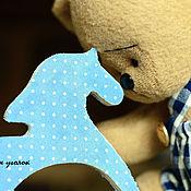 Куклы и игрушки ручной работы. Ярмарка Мастеров - ручная работа Мишутка с Лошадкой. Handmade.