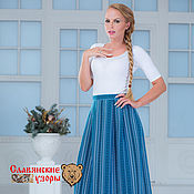Одежда handmade. Livemaster - original item Skirt with oberezhnymi ornaments