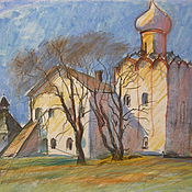 Картины и панно handmade. Livemaster - original item pastel Spring in Vologda. Handmade.
