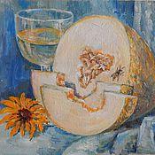 """Картины и панно ручной работы. Ярмарка Мастеров - ручная работа """"Натюрморт с дыней"""" картина маслом. Handmade."""