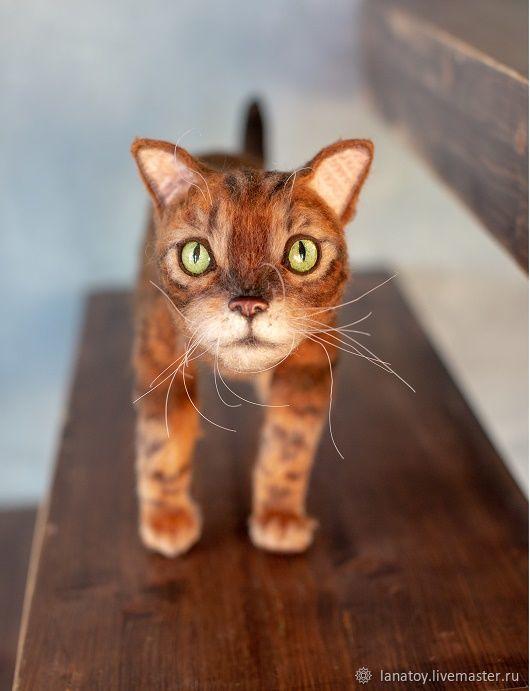 Бенгальский кот вязаная игрушка, Мягкие игрушки, Тула,  Фото №1