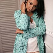 Одежда handmade. Livemaster - original item Coat lace color Tiffany. Handmade.