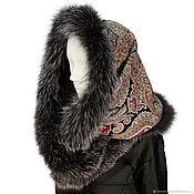 Аксессуары handmade. Livemaster - original item Snood-a scarf with fur trimmed