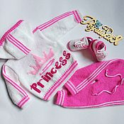 Одежда детская handmade. Livemaster - original item Knitted tracksuit