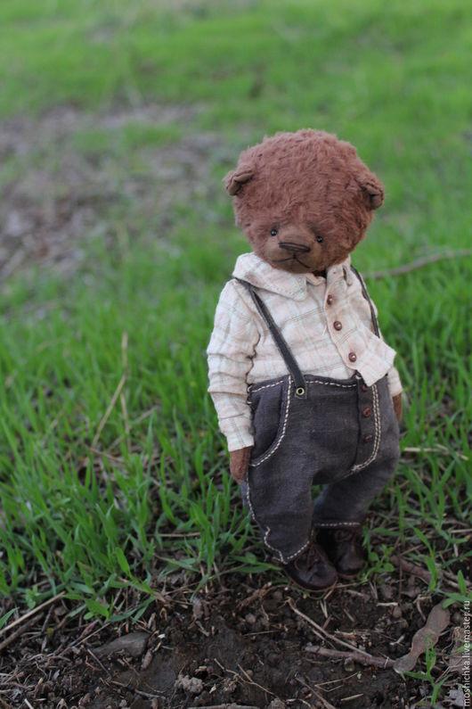 Мишки Тедди ручной работы. Ярмарка Мастеров - ручная работа. Купить Мальчуган. Handmade. Комбинированный, тедди мишка винтаж