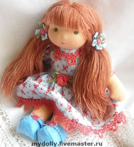 Вальдорфская игрушка ручной работы. Ярмарка Мастеров - ручная работа. Купить Вальдорфская кукла Розочка (30 см). Handmade.