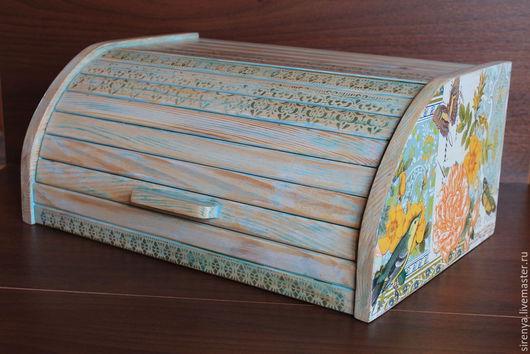 """Кухня ручной работы. Ярмарка Мастеров - ручная работа. Купить Хлебница """"Летний сад"""". Handmade. Разноцветный, птицы"""
