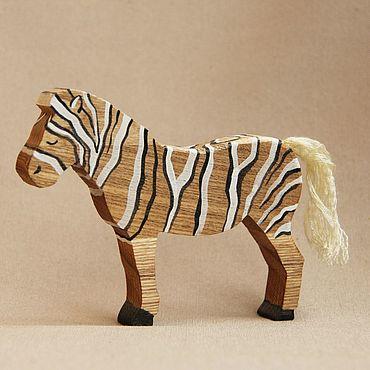 Деревянная игрушка - Зебра