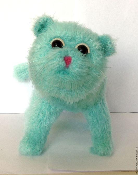 Игрушки животные, ручной работы. Ярмарка Мастеров - ручная работа. Купить Вязаная игрушка Экзотический кот. Handmade. Бирюзовый, амигуруми