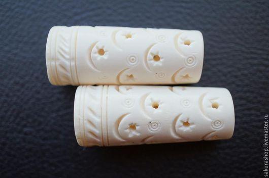 Для украшений ручной работы. Ярмарка Мастеров - ручная работа. Купить Кость резная бусина конус 50х17-20мм. Handmade.