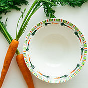 Посуда handmade. Livemaster - original item The most summer carrots ) Deep plate, handmade ceramics.. Handmade.