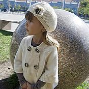 Работы для детей, ручной работы. Ярмарка Мастеров - ручная работа Комплект вязаный для девочки Французское настроение. Handmade.