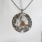 Фен-шуй и эзотерика ручной работы. Ярмарка Мастеров - ручная работа Серебряный кулон и кольцо с золотыми буквами. Handmade.