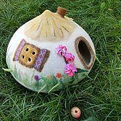 """Для домашних животных, ручной работы. Ярмарка Мастеров - ручная работа Домик для кошки """" Украинская хатка"""" Экстра-качество. Handmade."""