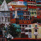 Картины и панно ручной работы. Ярмарка Мастеров - ручная работа Вид Тбилиси. Handmade.