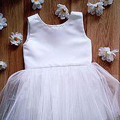 Работы для детей, ручной работы. Ярмарка Мастеров - ручная работа Платье для торжества,  рост 104. Handmade.