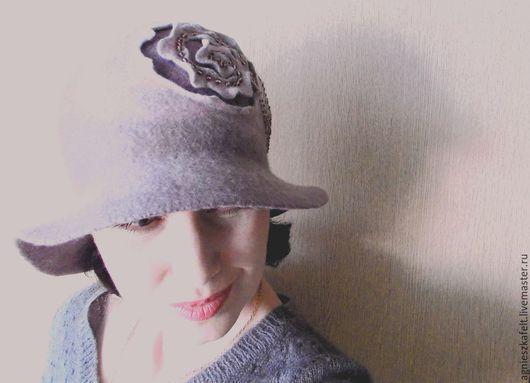 """Шляпы ручной работы. Ярмарка Мастеров - ручная работа. Купить Шляпка """"Отражение"""". Handmade. Серый, образ, туман, однотонный"""