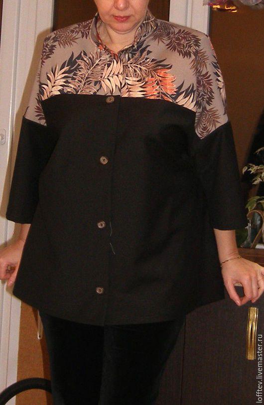 Блузки ручной работы. Ярмарка Мастеров - ручная работа. Купить рубашка женская шерстяная Бохо. Handmade. Черный, рубашка свободная