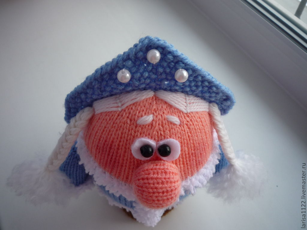 вязание снегурочки на спицах