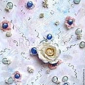 Картины и панно ручной работы. Ярмарка Мастеров - ручная работа Объемная картина «Волшебный мир розы». Handmade.