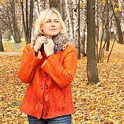 """Пиджаки ручной работы. Ярмарка Мастеров - ручная работа Жакет """"Рыжий"""". Handmade."""