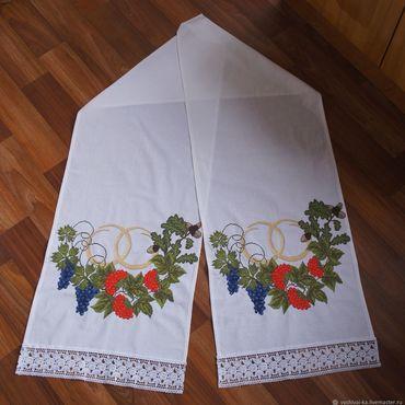 Русский стиль ручной работы. Ярмарка Мастеров - ручная работа Рушник вышитый свадебный. Handmade.