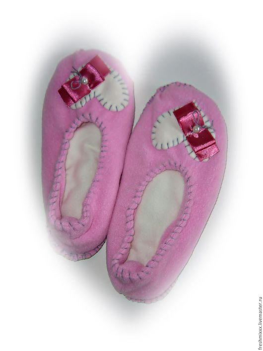 Обувь ручной работы. Ярмарка Мастеров - ручная работа. Купить Тапочки домашние (4). Handmade. Тапки, тапки домашние