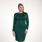 Одежда ручной работы. Ярмарка Мастеров - ручная работа 076: Прямое платье футляр офисное, повседневное платье футляр из джерс. Handmade.