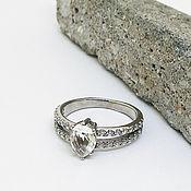 Кольца ручной работы. Ярмарка Мастеров - ручная работа Серебряное кольцо с фианитами №4 (серебро 925 пробы). Handmade.