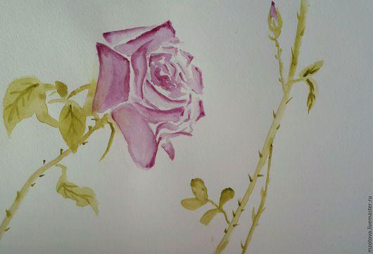 Картины цветов ручной работы. Ярмарка Мастеров - ручная работа. Купить Розовый куст. Handmade. Роза, авторская работа