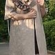 Верхняя одежда ручной работы. Ярмарка Мастеров - ручная работа. Купить Летнее пальто РОЗА. Handmade. Бежевый, пальто женское
