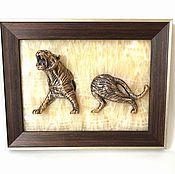 Картины и панно handmade. Livemaster - original item Panels Tiger. Handmade.